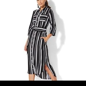 Ny& Company striped shirt dress